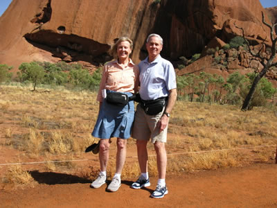 Rosie and Ladd Jones - Ayers Rock, Australia