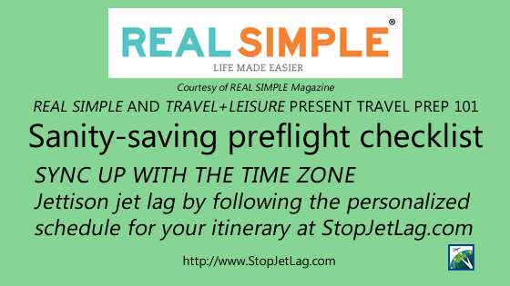REAL SIMPLE - Jettison jet lag with StopJetLag.com