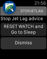 Reset Watch Notification - StopJetLag for Apple Watch
