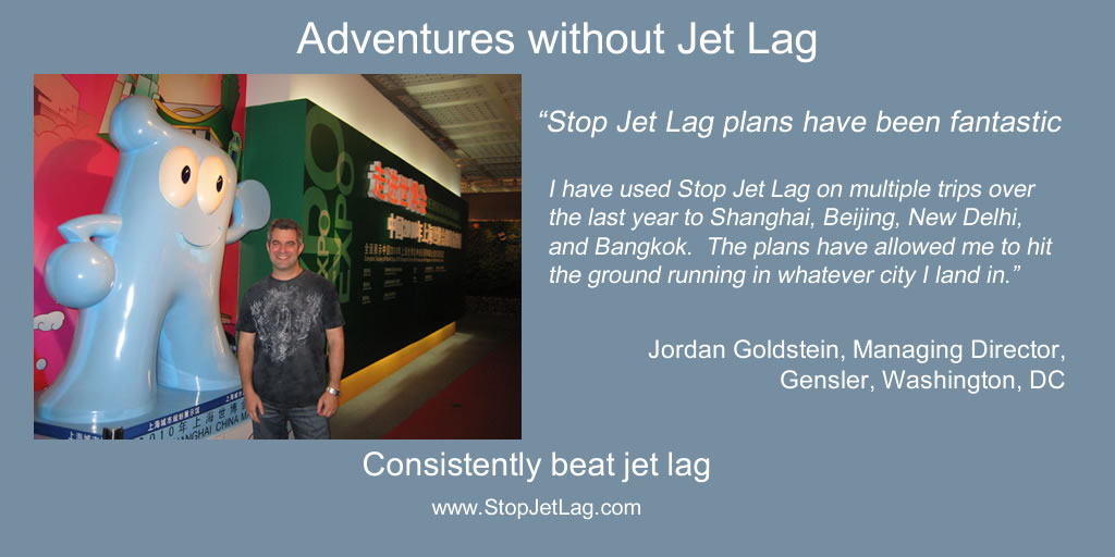 StopJetLag - Jordon Goldstein in Shanghai, China