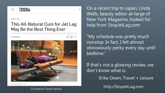 This All-Natural Cure for Jet Lag May Be the Best Thing Ever - StopJetLag on Travel+Leisure