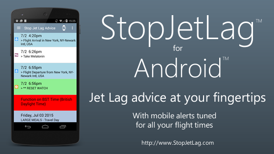 StopJetLag for Android