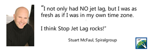 StopJetLag rocks! Stuart McFaul