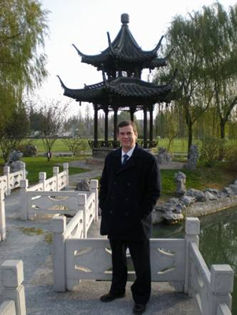 Bill Shelley at State Guesthouse in Yangzhou, China
