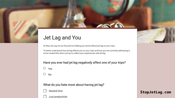 Jet Lag And You Survey