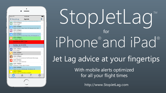 StopJetLag for iOS 9 on iPhone and iPad